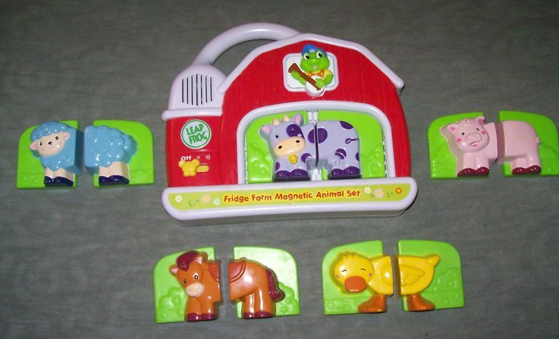 LEAP FROG Fridge Farm Magnetic Barn Animal Leaning Toy Leapfrog